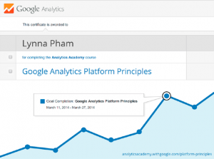 google analytics course certification