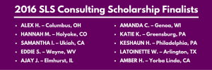 SLS Consulting's 2016 Scholarship Finalists