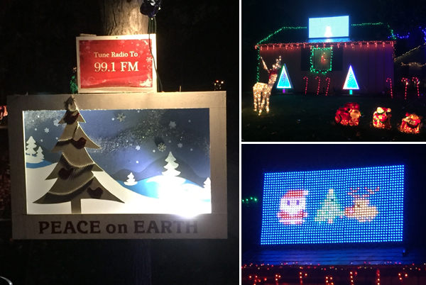Hastings Ranch Christmas Lights - Video Game Display
