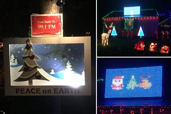 Hastings Ranch Christmas Lights - Video Game Display