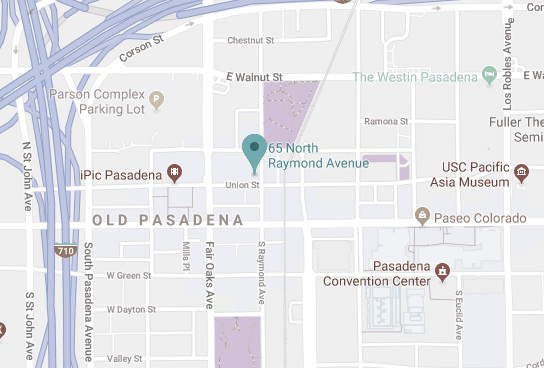 Map of 65 N. Raymond Ave., Suite 230, Pasadena, CA 91103